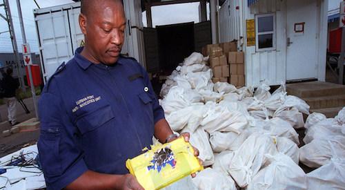 La droga invade l'Africa