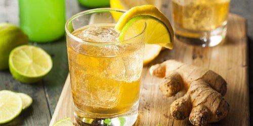 Bevanda rinfrescante allo zenzero